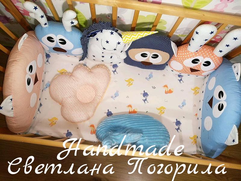 Комплект в НАЛИЧИИ. Бортики в кроватку,защита,детское постельное - Фото 2