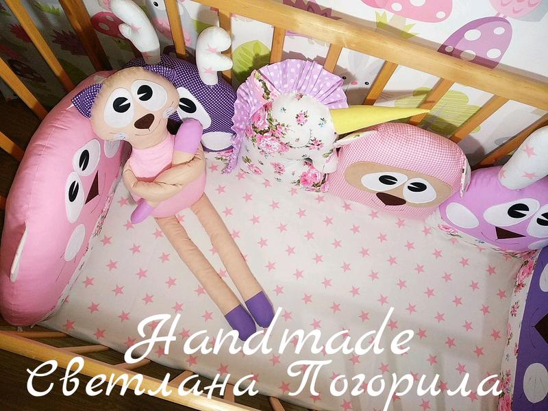 В НАЛИЧИИ комплект в кроватку,бортики, защита, детское постельное
