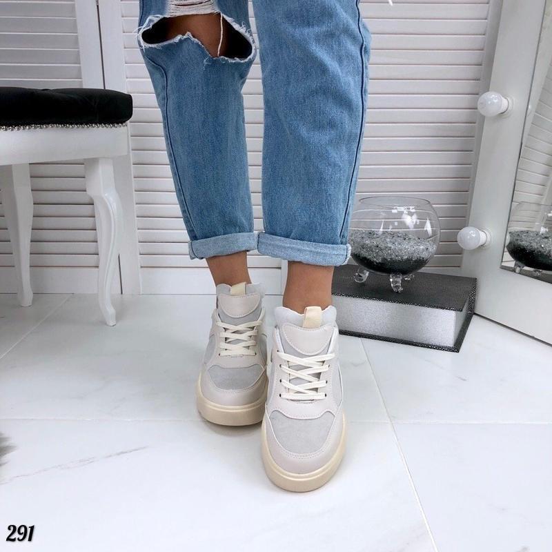 Бежевые кроссовки на платформе, кроссовки волна rafaello 37,40р - Фото 6