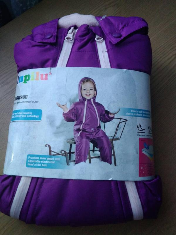 Зимний комбинезон для девочки. lupilu код. 180108 - Фото 3