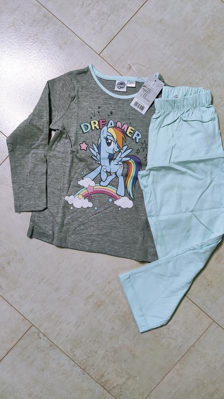 Хлопковая пижама на девочку пони, кофта и штаны
