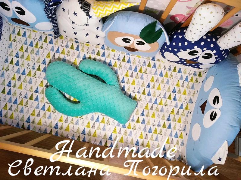 В НАЛИЧИИ комплект в кроватку.бортики , постельное белье,защита - Фото 2