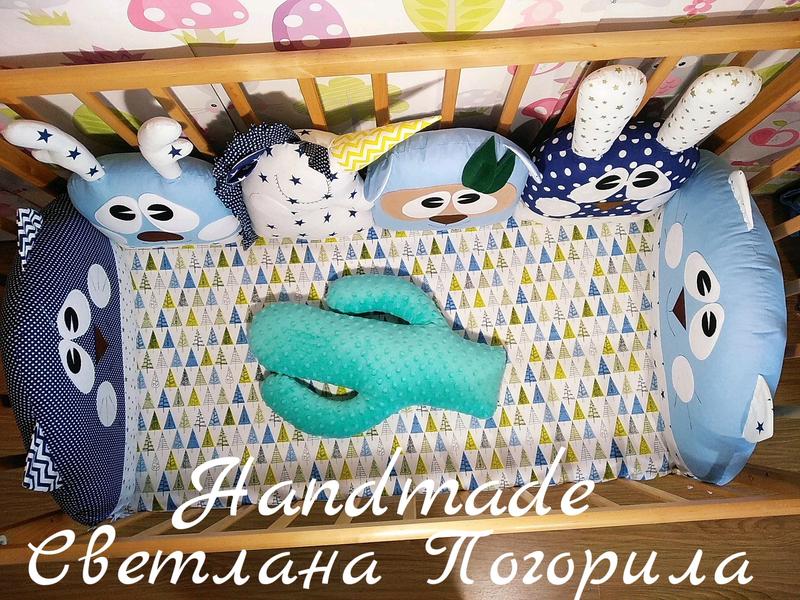 В НАЛИЧИИ комплект в кроватку.бортики , постельное белье,защита - Фото 3