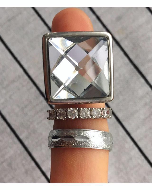 Набір, комплект за всі, кольца, кольцо, серебристые кольца.