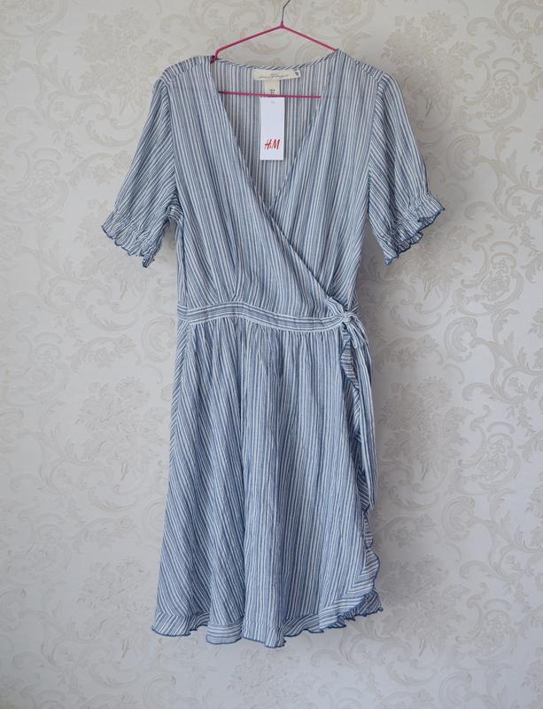 Платье на запах h&m - Фото 7