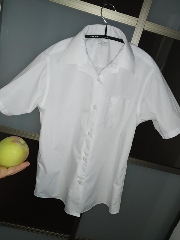 Рубашка с короткими рукавами в школу на 9-10 лет