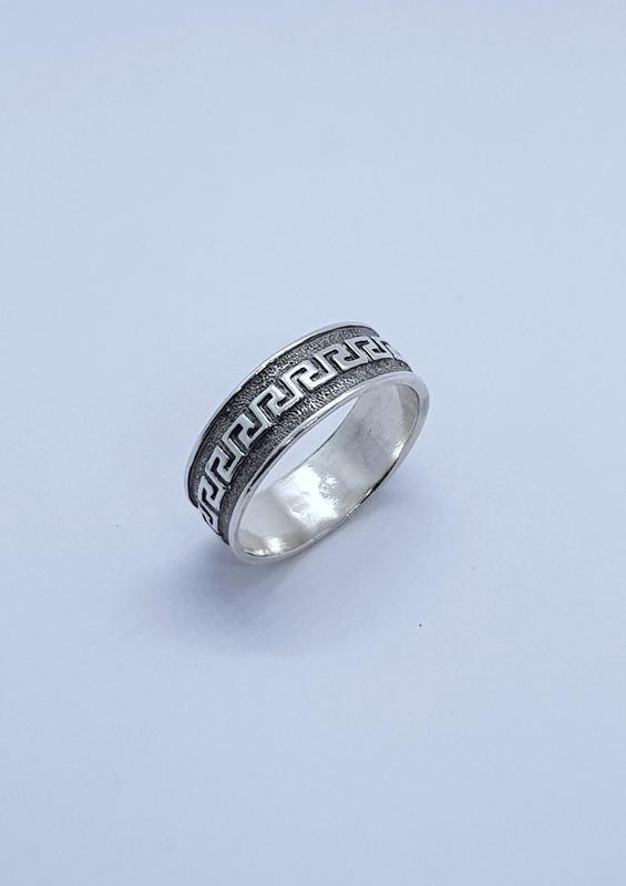"""Серебряное кольцо """"меандр """" серебро 925 проба."""