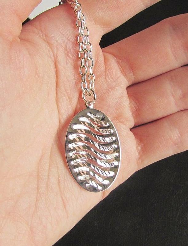 🏵набор серебрённый кулон на цепи и серьги, новый! арт. 109023 - Фото 6