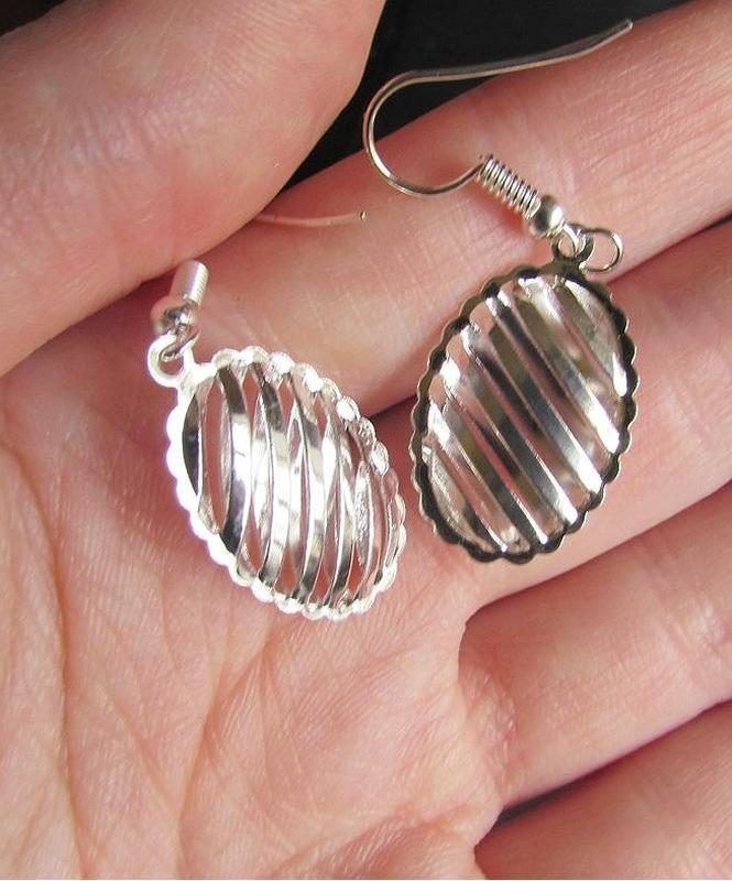 🏵набор серебрённый кулон на цепи и серьги, новый! арт. 109023 - Фото 7