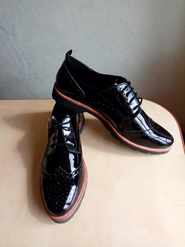 Необыкновенные кожаные туфли оксфорды от LONDON FOG