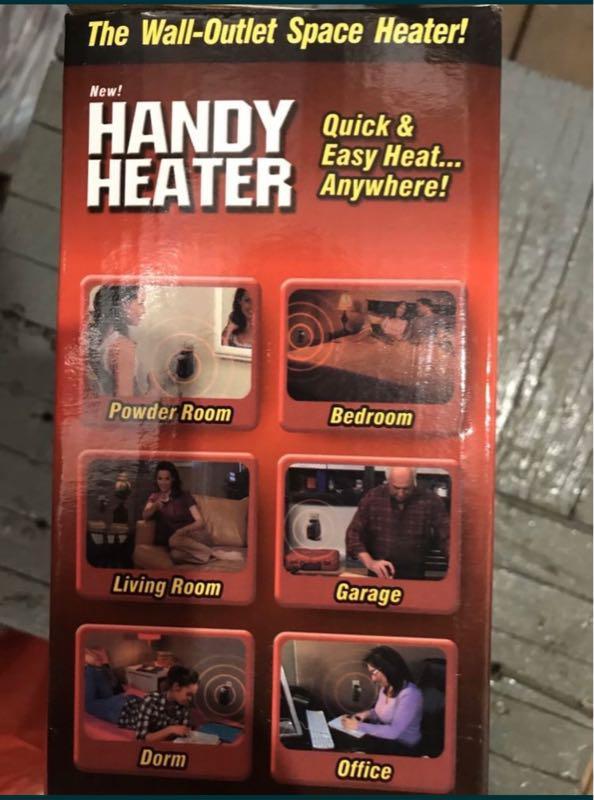 Handy Heater, портативный обогреватель, тепловентилятор 400 ватт - Фото 2