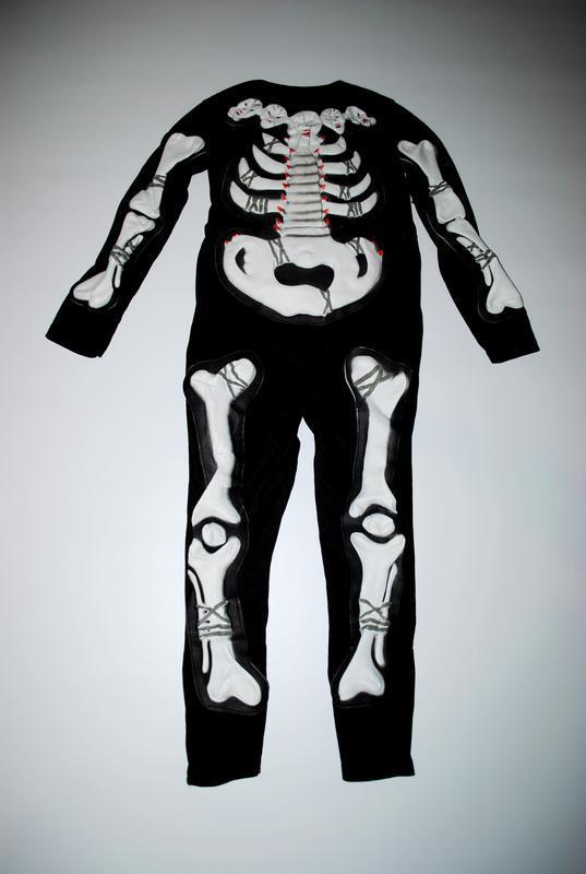 Костюм черный комбинезон скелет на хеллоуин боди 4 5 6 7 лет г...