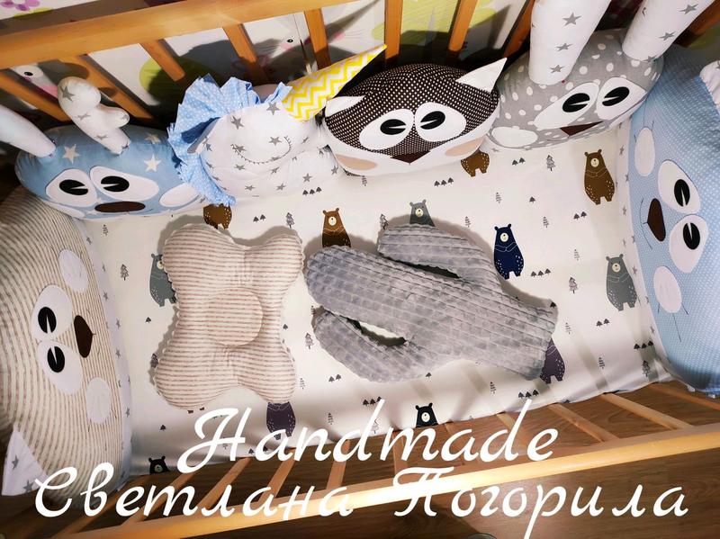 В НАЛИЧИИ комплект в кроватку,бортики зверушки,детское постельное - Фото 3