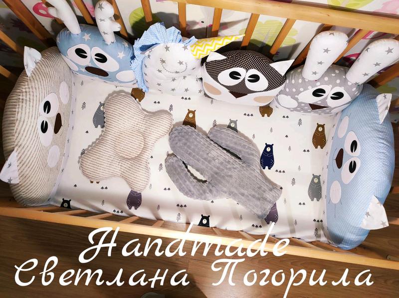 В НАЛИЧИИ комплект в кроватку,бортики зверушки,детское постельное - Фото 5