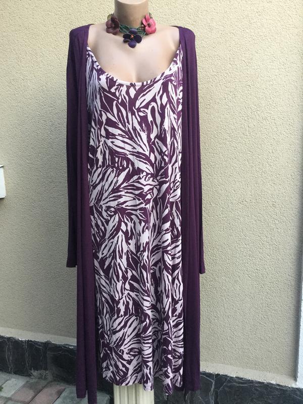 Платье-костюм двойка(кардиган-туника цельное),трикотаж ткань,б...