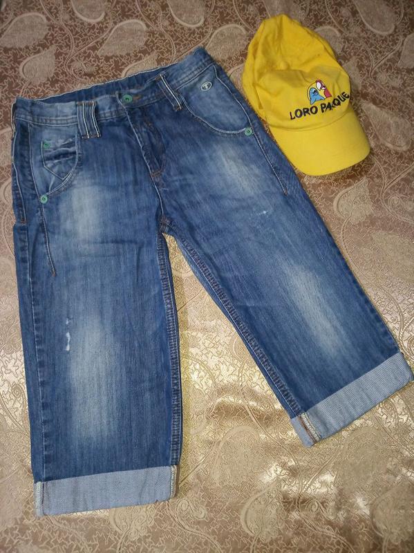 Джинсовые шорты бриджи подростковые 158-162 см