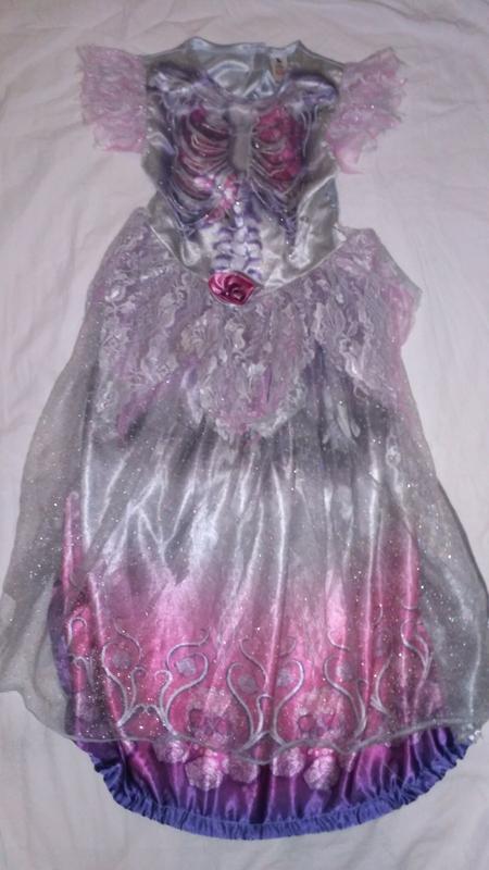 Платье невесты скелета для хэллоуина