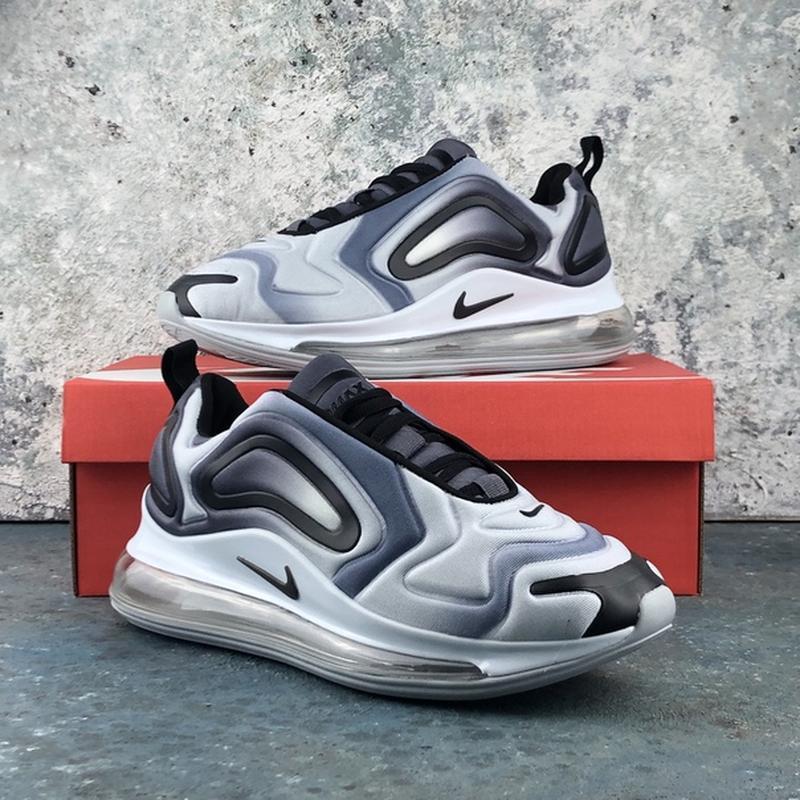 Мужские серые кроссовки найк nike air max 720 grey. - Фото 5