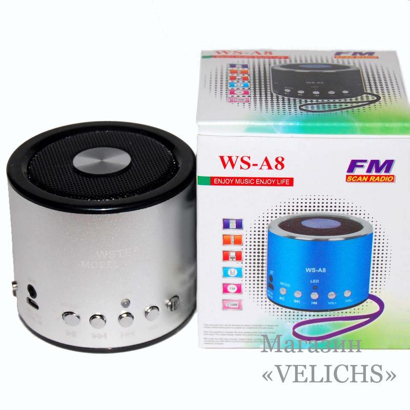 Портативная колонка WS-A8 MP3 FM - Фото 2