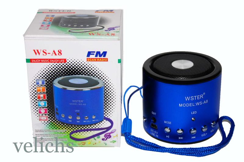 Портативная колонка MP3 FM WS-A8 - Фото 2