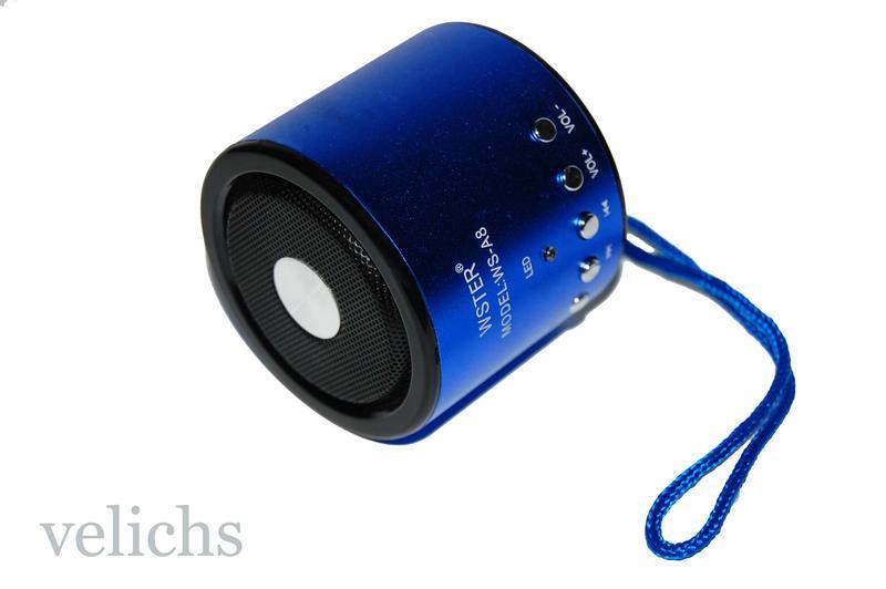 Портативная колонка MP3 FM WS-A8 - Фото 8