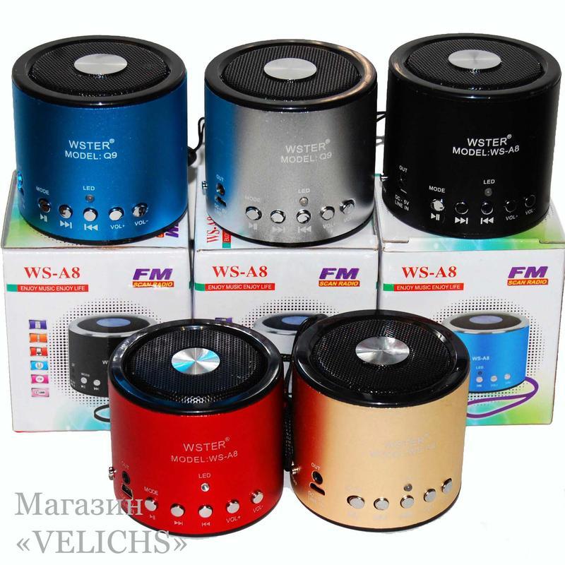 Портативная колонка MP3 FM WS-A8 - Фото 12