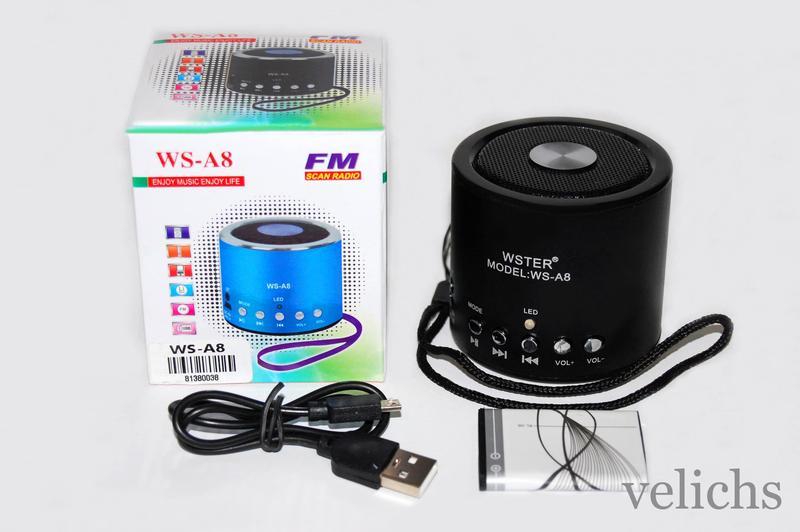Портативная колонка WS-A8 MP3 FM - Фото 4