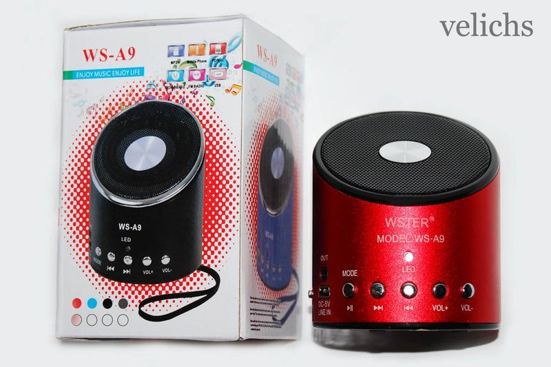 Портативная колонка MP3 FM WS-A9 - Фото 2