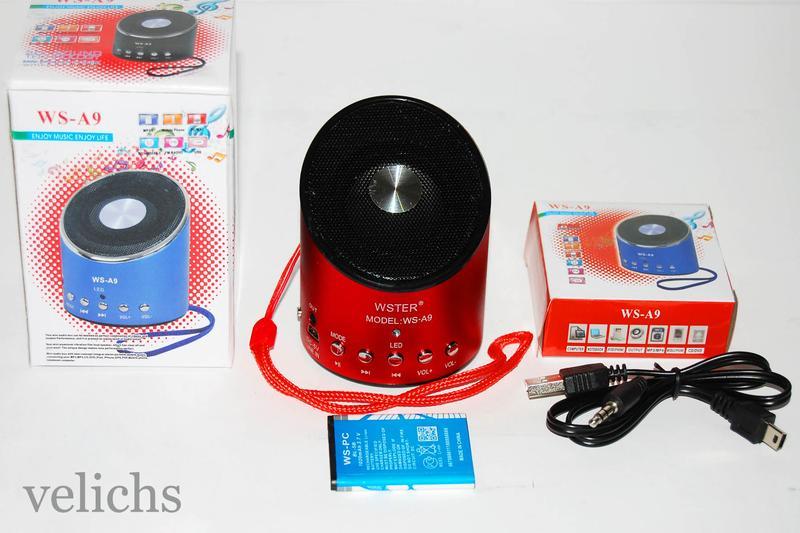 Портативная колонка MP3 FM WS-A9 - Фото 4