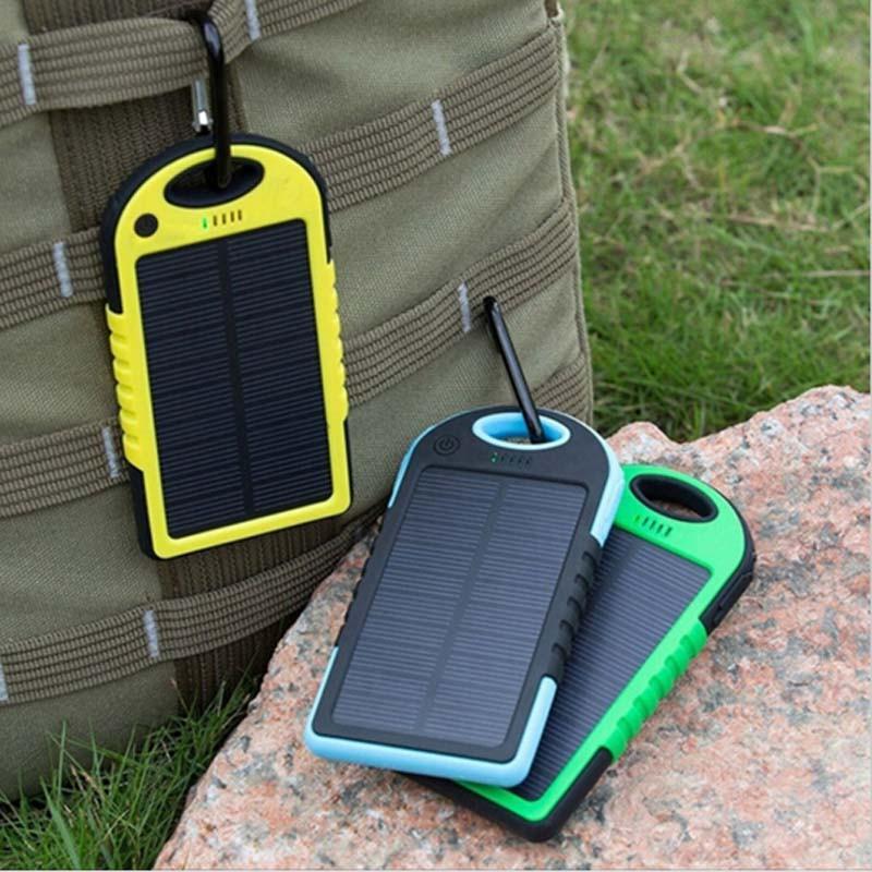 Портативное зарядное Power Bank Solar 50000 на солнечной батареи - Фото 2
