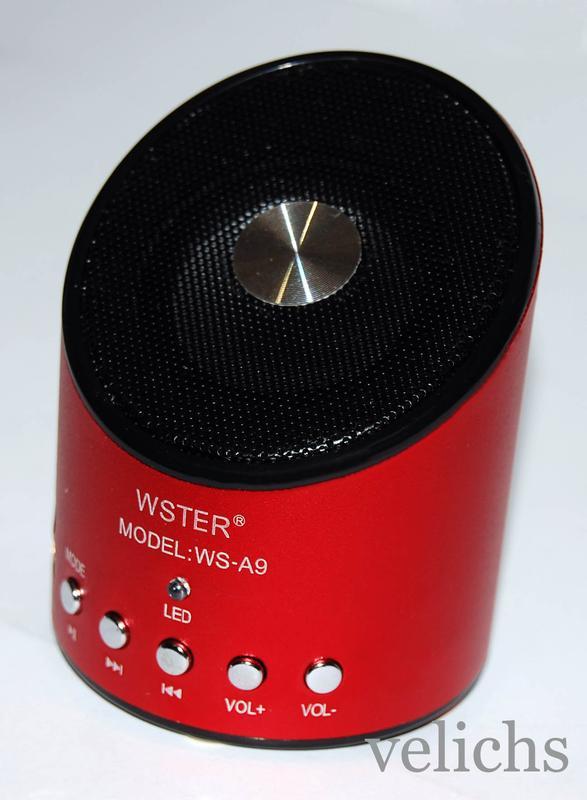 Портативная колонка MP3 FM WS-A9 - Фото 11
