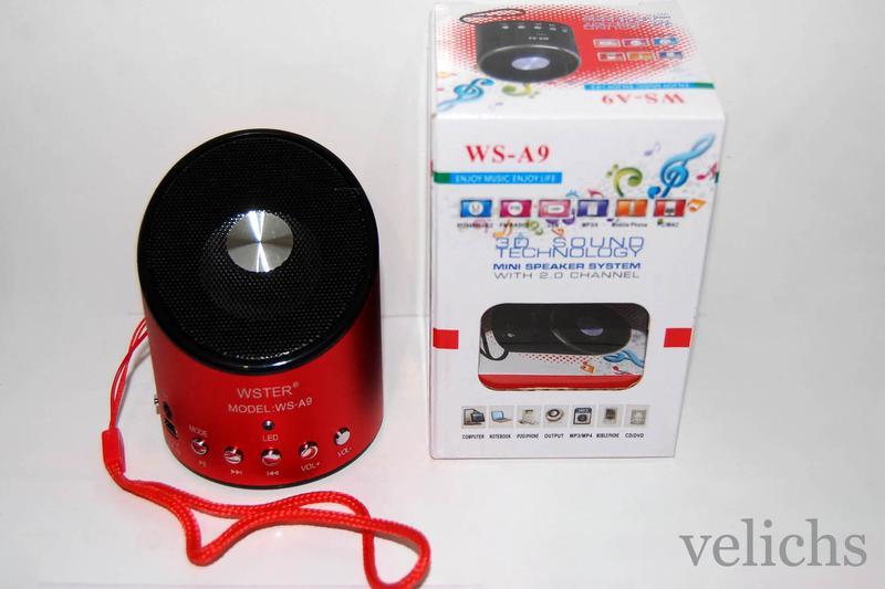 Портативная колонка MP3 FM WS-A9 - Фото 12