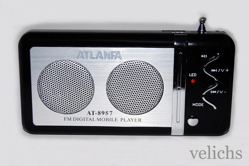 Портативная колонка с FM и МР 3 Atlanfa AТ-8957 - Фото 3