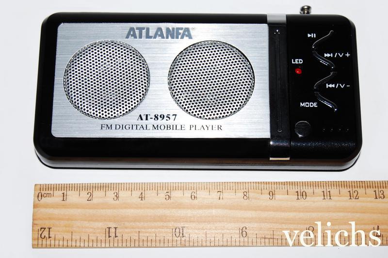 Портативная колонка с FM и МР 3 Atlanfa AТ-8957 - Фото 4