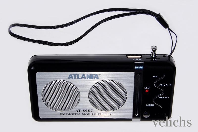 Портативная колонка с FM и МР 3 Atlanfa AТ-8957 - Фото 6
