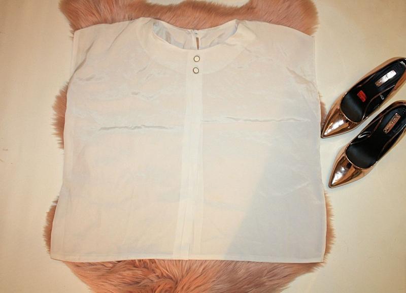 Блузка белая прозрачная широкая оверсайз oversize (к003)