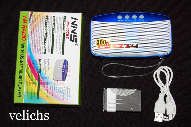 Портативная Bluetooth колонка с MP-3 и FM NS-002 BT - Фото 3