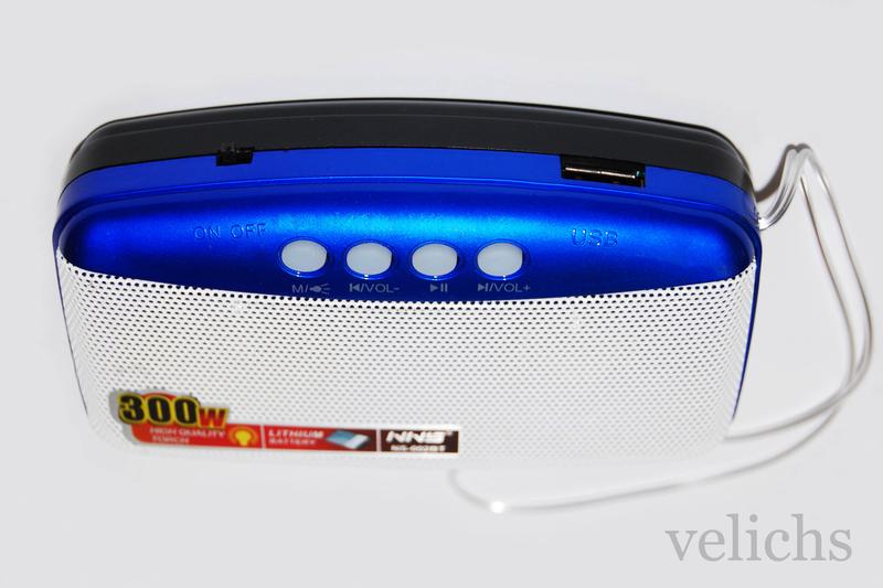 Портативная Bluetooth колонка с MP-3 и FM NS-002 BT - Фото 7