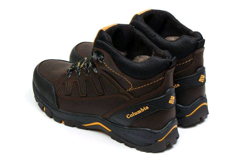 Мужские зимние кожаные ботинки - Фото 8