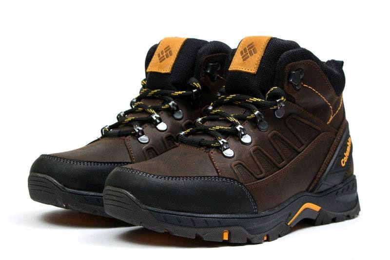 Мужские зимние кожаные ботинки - Фото 7