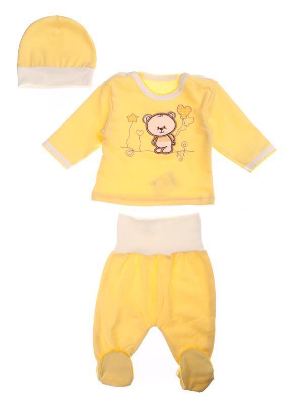 Комплект (кофта, ползунки, шапка) baby art