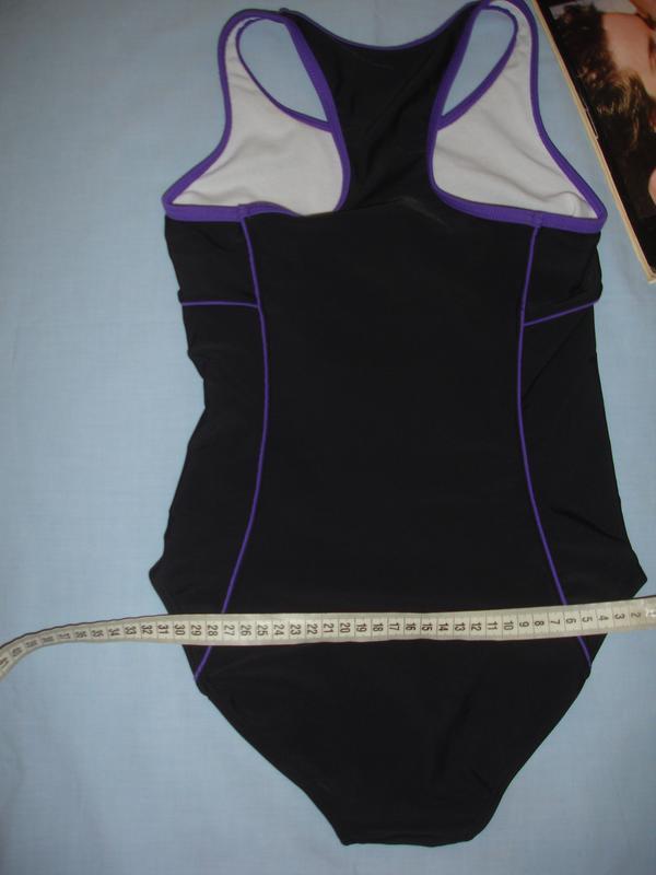 Купальник черный спортивный сдельный в бассейн на 10-11 лет ро... - Фото 3