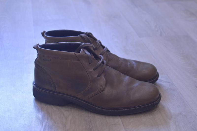 Ecco мужские ботинки натуральная кожа оригинал на гор тексе sale!