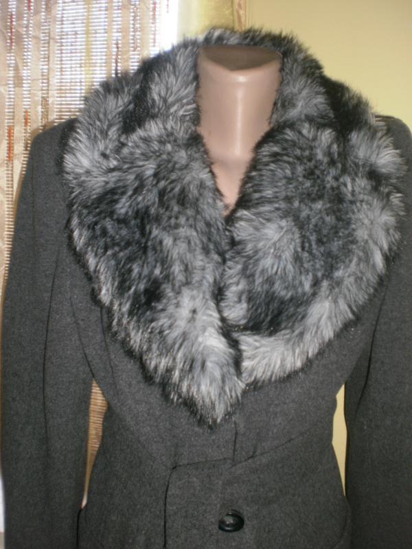 Шикарнейше пальто з густим пишним мехом dorothy perkins - Фото 2