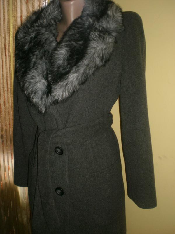 Шикарнейше пальто з густим пишним мехом dorothy perkins - Фото 3