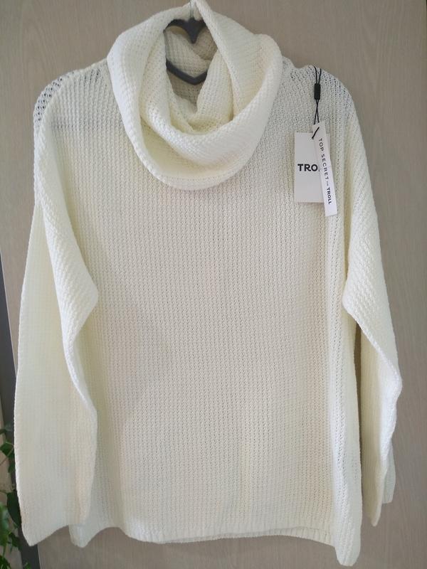 Свитер top secret, свитер с воротником - Фото 2