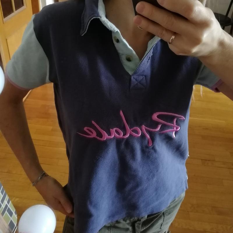 Жёсткая структурная футболка поло с вельветовый отделкой rydale - Фото 2