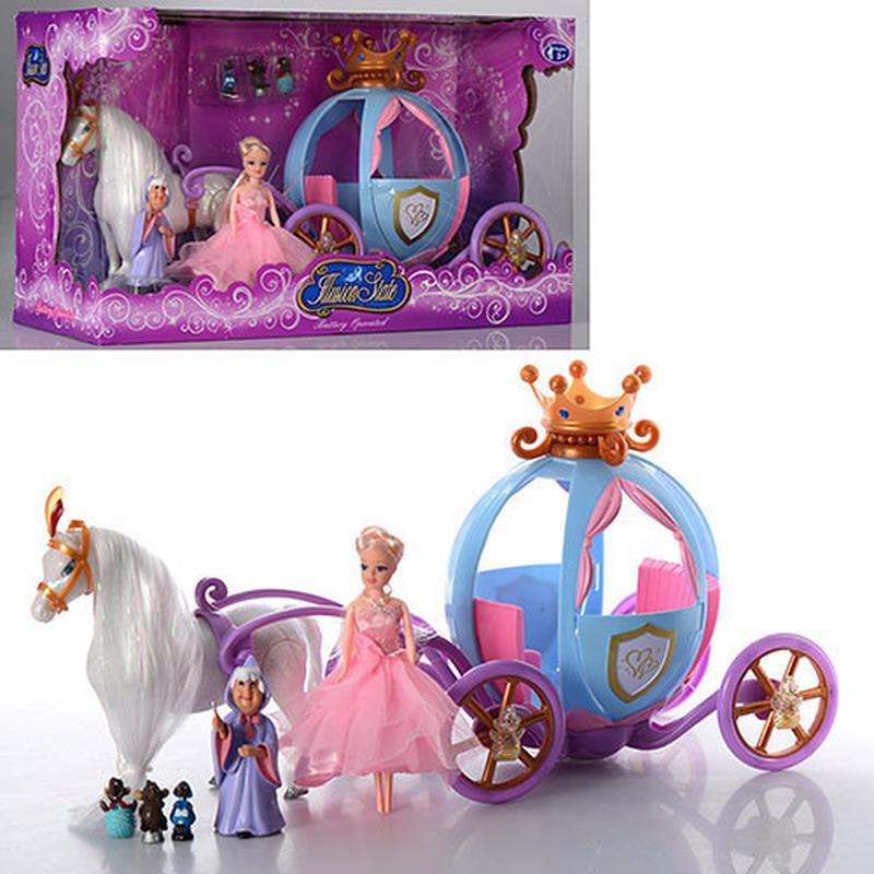 Карета с куклой, лошадью