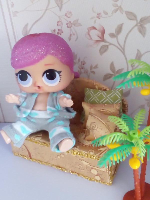 Диван для кукол Лол. Мебель для кукольного домика. - Фото 2