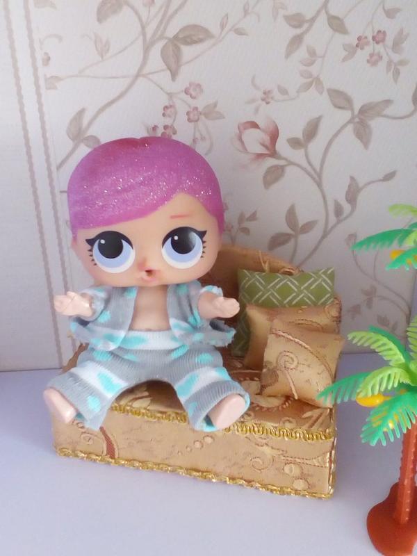 Диван для кукол Лол. Мебель для кукольного домика. - Фото 3